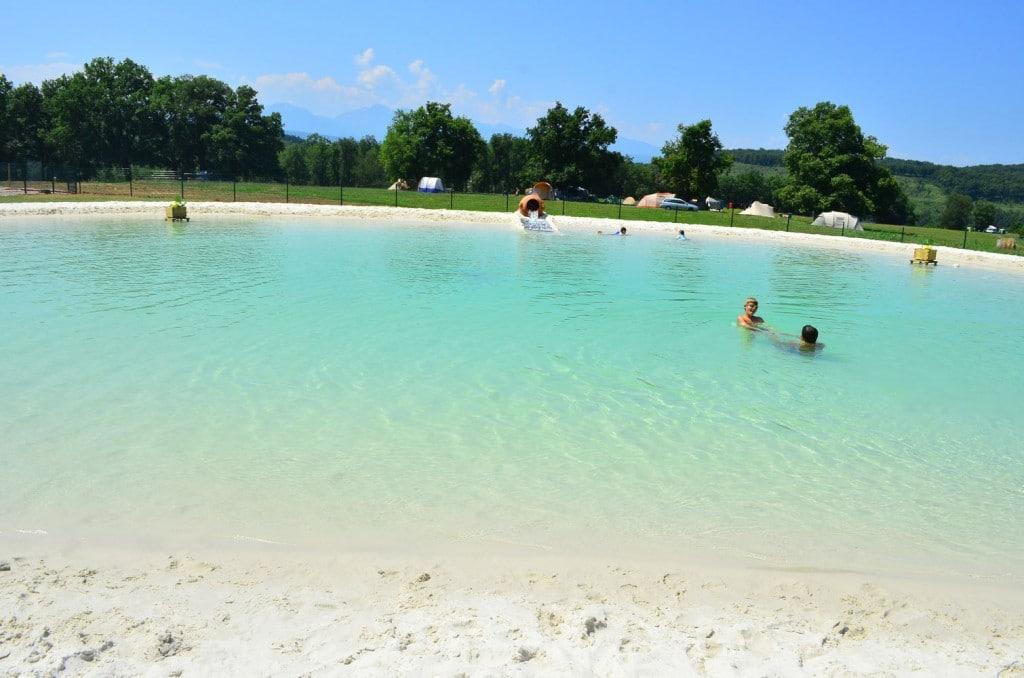 Les activités du Camping de La Besse à Camon : le lagon