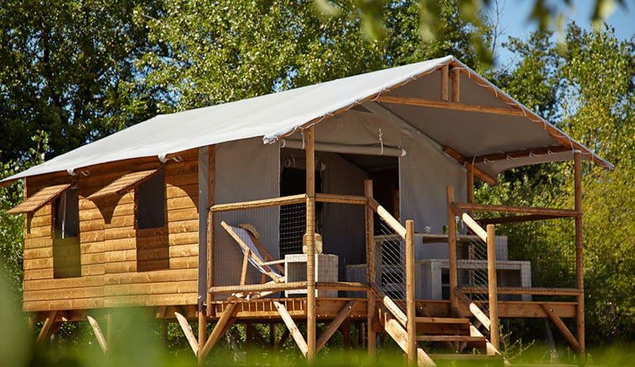 Location de Cabane Lodge en Ariège (Camping de La Besse)