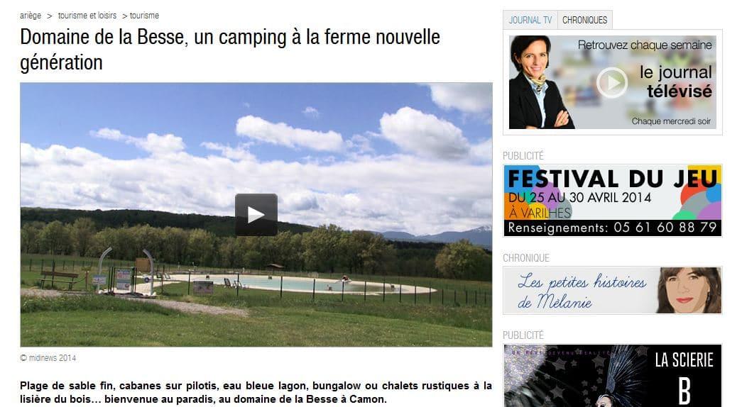 Petit reportage sympathique sur le Domaine de la Besse (Ariège News)