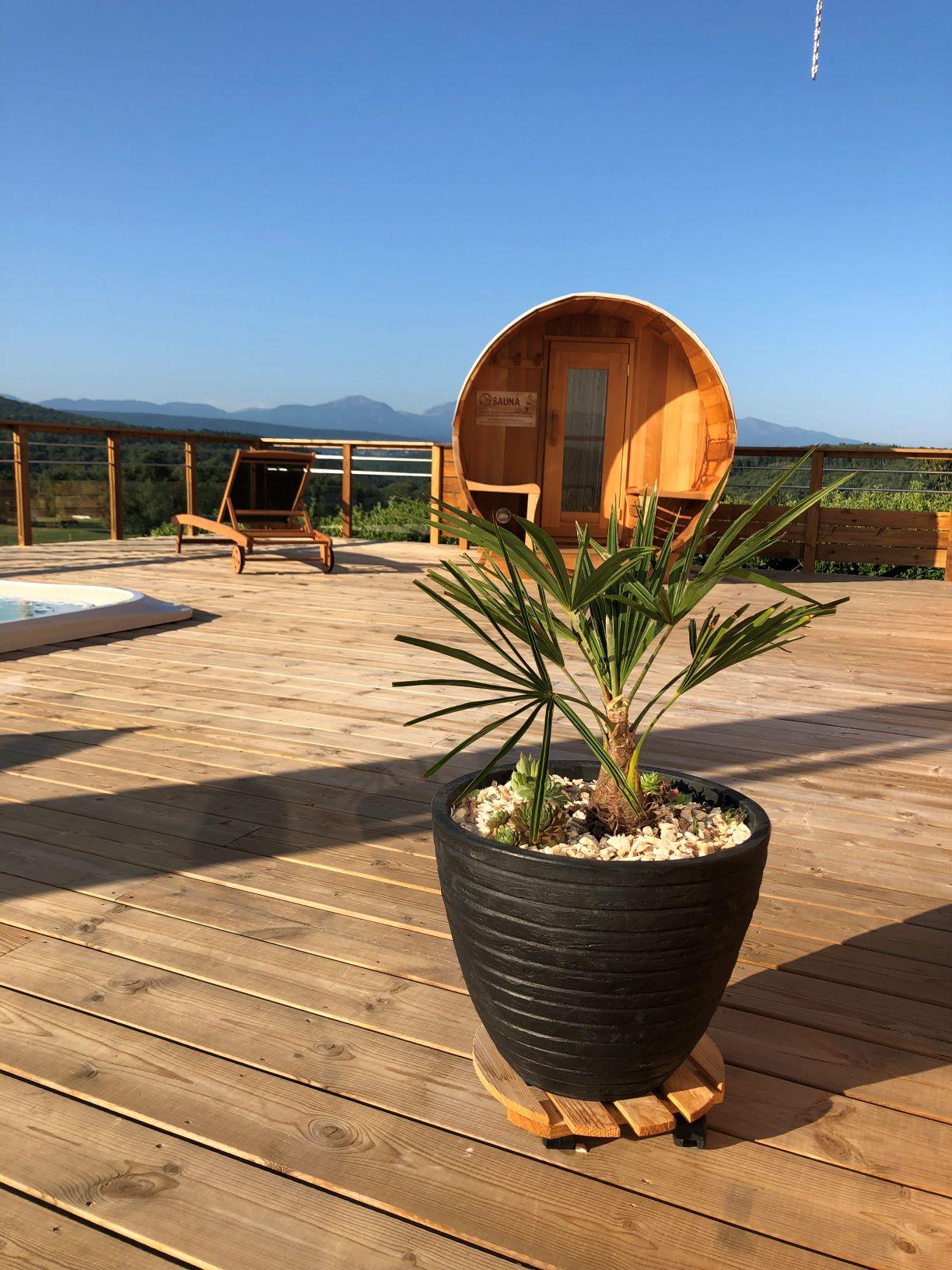 Le sauna du Camping de La Besse en Ariège