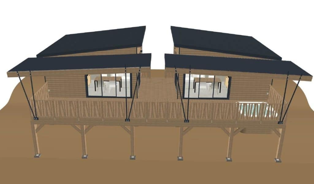 Cabanes avec SPA privatif 10 Personnes